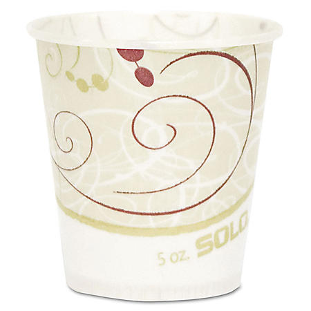 Solo Paper Water Cups, Waxed, 5oz -  100/Pack