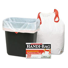 Handi-Bag 13 gal. Tall Kitchen Drawstring Trash Bags (50 ct.)