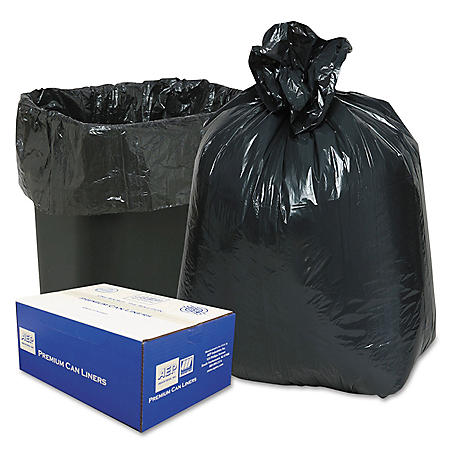 Classic - 2-Ply Low-Density Can Liners, 16gal, .6mil, 24 x 31, Black -  500/Carton