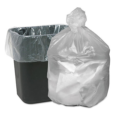 Good 'n Tuff - High Density Waste Can Liners, 16gal, 5mic, 24 x 31, Natural -  1000/Carton