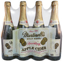 Martinelli's Gold Medal Sparkling Apple Cider (25.4 fl. oz. bottle, 4 pk.)