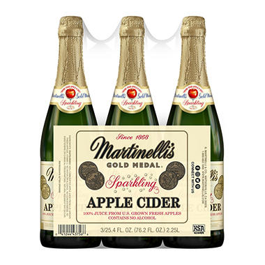 Martinelli's Sparkling Apple Cider, 3 - 25.4 oz.