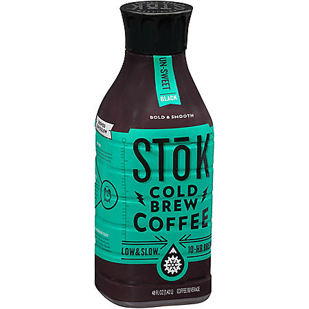 Stok Un-Sweet Black Cold Brew Coffee (48 fl. oz.)