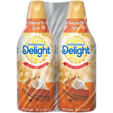 International Delight Coffee Creamer, Pumpkin Pie Spice (48 fl. oz. bottle, 2 pk.)