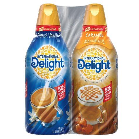 International Delight Creamer, French Vanilla & Caramel Macchiato (48 oz., 2 pk.)