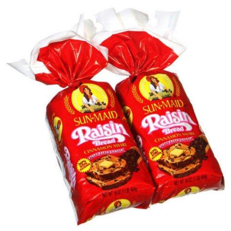 Sun-Maid® Raisin Bread - 2/16 oz. loaves