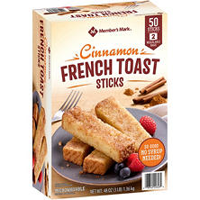 Member's Mark Cinnamon French Toast Sticks by Farm Rich (50 sticks)