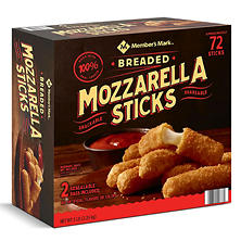 Member's Mark Breaded Mozzarella Sticks by Farm Rich (5 lb., 72 sticks)