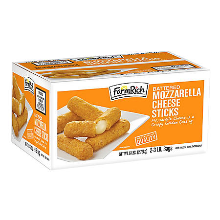 Farm Rich Breaded Mozzarella Sticks (3 lb. bag, 2 ct.)