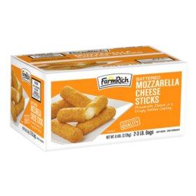 Farm Rich Breaded Mozzarella Sticks (3 lb. bag, 2 ct.)