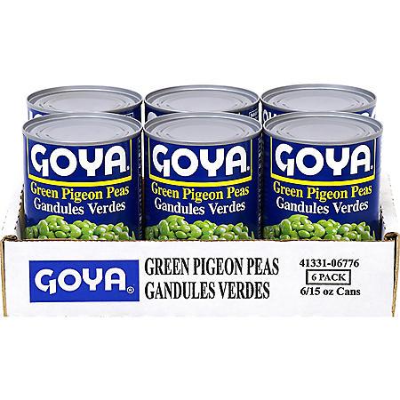 Goya Green Pigeon Peas (15 oz. ea., 6 ct.)