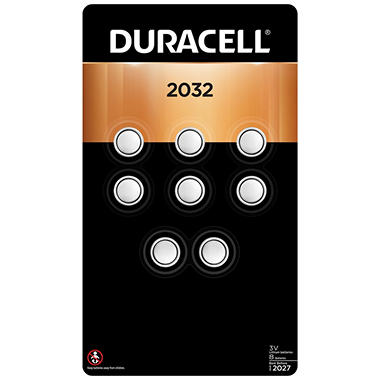 Duracell 2032 Lithium Coin Button Batteries (8 count)