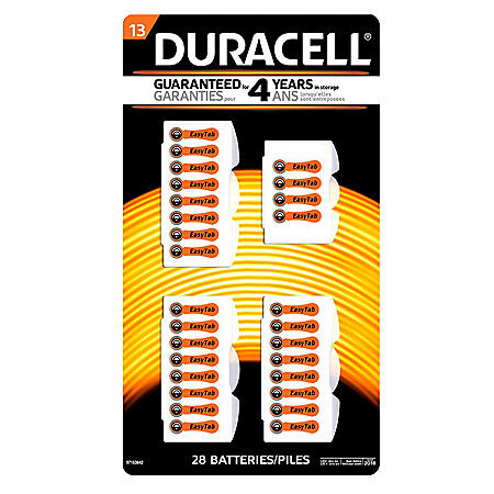 Duracell Hearing Aid Size #13 Batteries (28 Pk.)