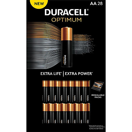 Duracell Optimum AA Batteries - Resealable Package (28 pk.)
