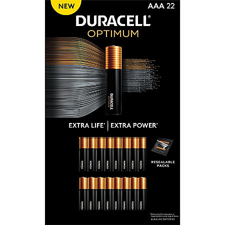 Duracell Optimum AAA Batteries - Resealable Package (22 pk.)