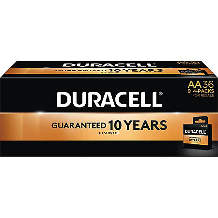 Duracell Coppertop Alkaline AA Batteries for Resale (36 Pk.)