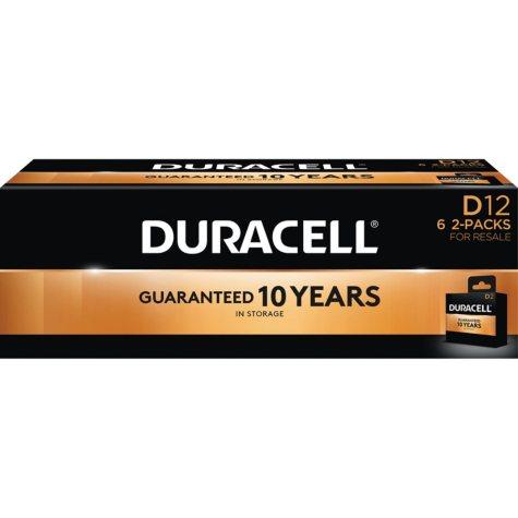 Duracell Coppertop Alkaline D Batteries for Resale (12 Pk.)