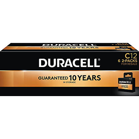 Duracell Coppertop Alkaline C Batteries for Resale (12 Pk.)