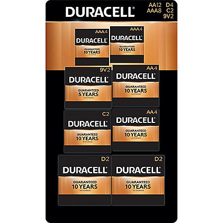 Duracell Coppertop Alkaline AA, AAA, C, D, and 9V Batteries Assortment Pack for Resale (36 pk.)