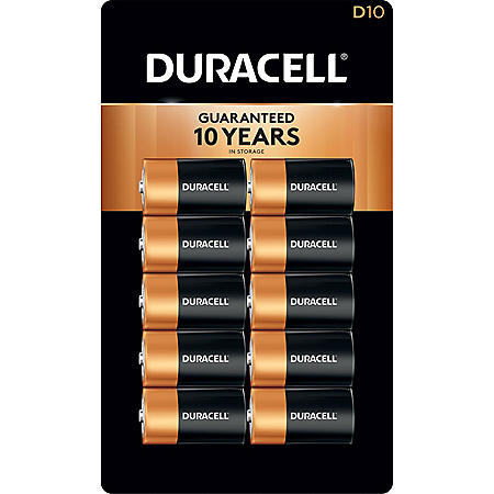Duracell Coppertop Alkaline D Batteries (10 Pk.)
