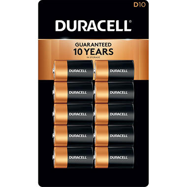 Duracell Coppertop Alkaline D Batteries (10 Pk.)