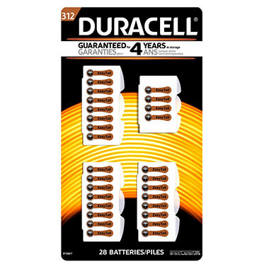 Duracell Hearing Aid Size #312 Batteries (28 Pk.)