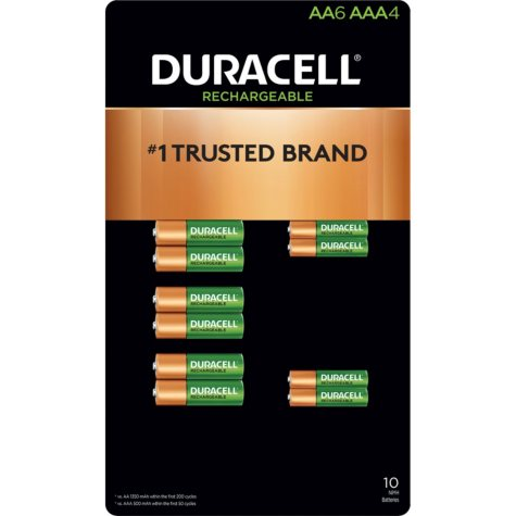 Duracell Rechargeable NiMH AA and AAA Batteries w/ ion Core