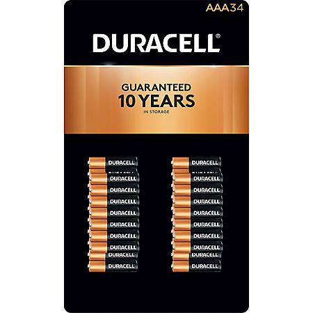 Duracell Coppertop Alkaline AAA Batteries (34 pk.)