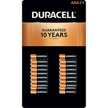 Duracell Coppertop Alkaline AAA Batteries (34 pk.)