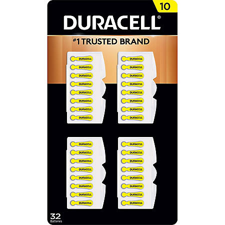 Duracell Hearing Aid Size 10 Batteries (32 ct.)
