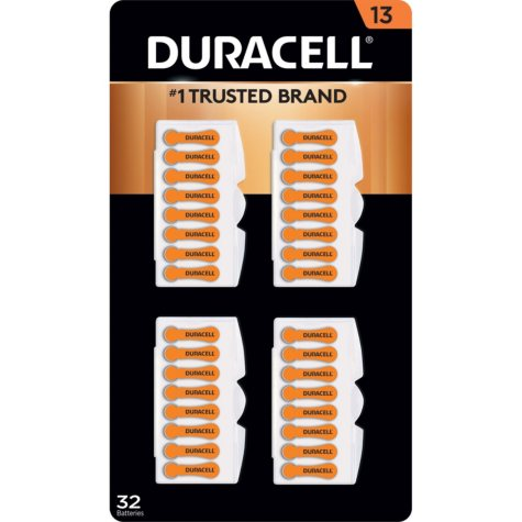 Duracell Hearing Aid Size 13 Batteries (32 ct.)