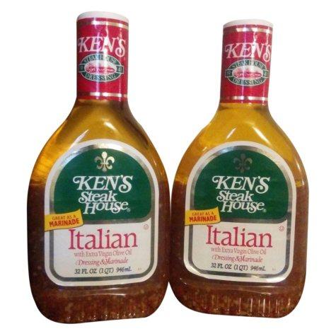 Ken's Steak House Italian with Extra Virgin Olive Oil (32 oz., 2 pk.)