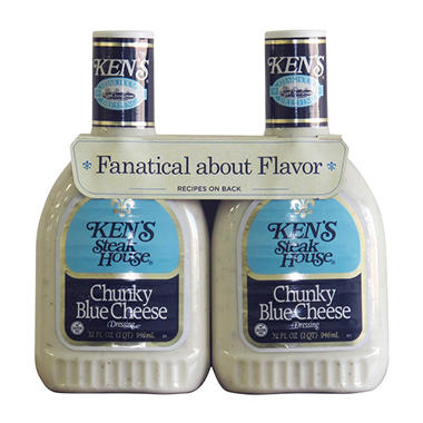 Ken's Steak House Chunky Blue Cheese Dressing (32 oz. ea., 2 pk.)