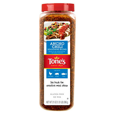 Tone's Ancho Chili Seasoning Blend (21 oz.)