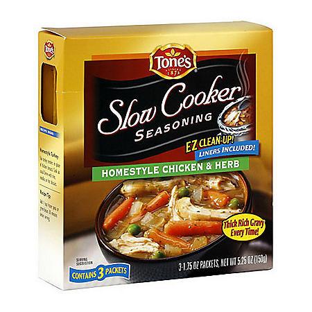 Tone's Hearty Beef Slow Cooker Seasoning - 3pk