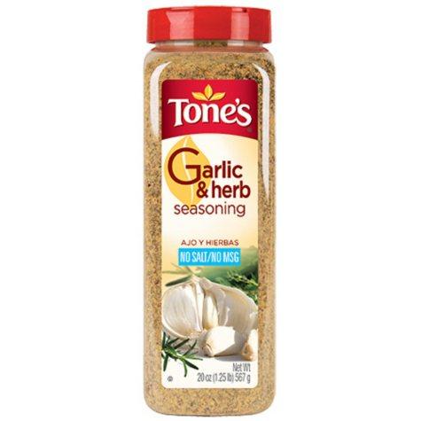 Tone's® Garlic & Herb Seasoning - 20 oz. shaker