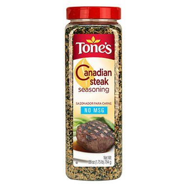 Tone's® Canadian Steak Seasoning - 28 oz. shaker