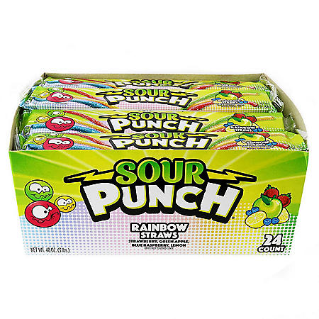 Sour Punch Rainbow Straws (2 oz., 24 ct)