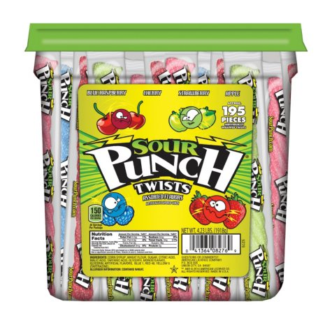 Sour Punch Twists (4.23 lb. jar)