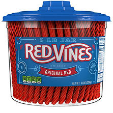 Red Vines Original Red Twists (5 lb. tub)