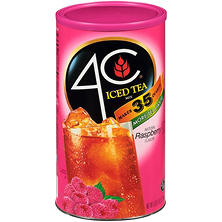 4C Raspberry Iced Tea Mix - makes 35 qt.