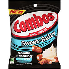 Combos Sweet and Salty Vanilla Frosting Pretzel Baked Snacks (6 oz., 12 pk.)