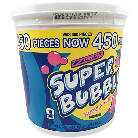 Super Bubble Original Bubble Gum (63.45 oz., 450 ct.)