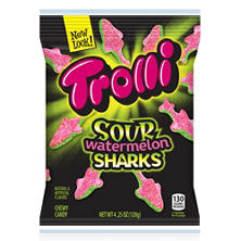 Trolli Sour Watermelon Sharks Candy (4.25 oz. bag)