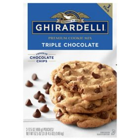 Ghirardelli Triple Chocolate Chip Cookie Mix (17.5 oz., 3 pk.)
