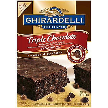 Ghirardelli® Triple Chocolate Brownie Mix - 80oz