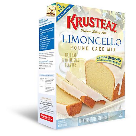 Krusteaz Limoncello Pound Cake Mix (49.5 oz., 3 pk.)