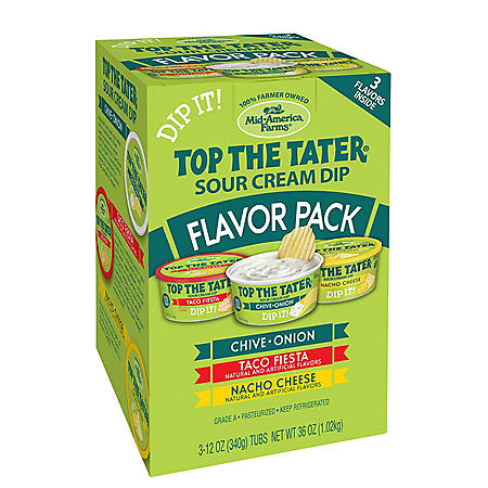 Top the Tater Sour Cream Dip Variety Pack (3 pk.)