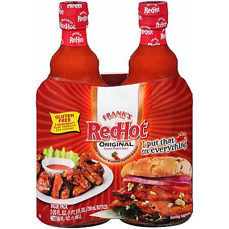 Frank's RedHot Original Cayenne Pepper Sauce (25 oz., 2 pk.)