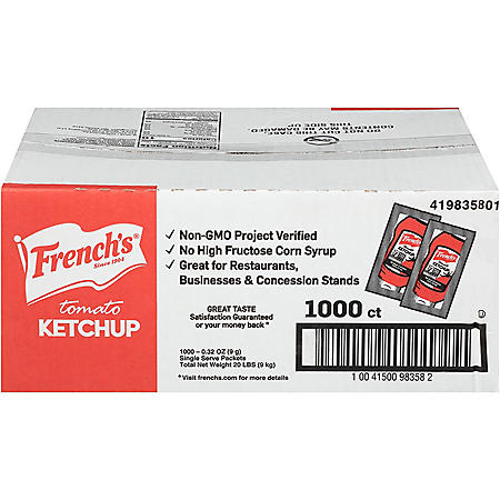 French's Tomato Ketchup (1,000 ct.)